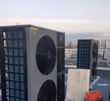 HOT!!Ultra Thin EVI Low Temperature Heat Pump(-25°C ~43°C ) model NERS-B5SDF-34