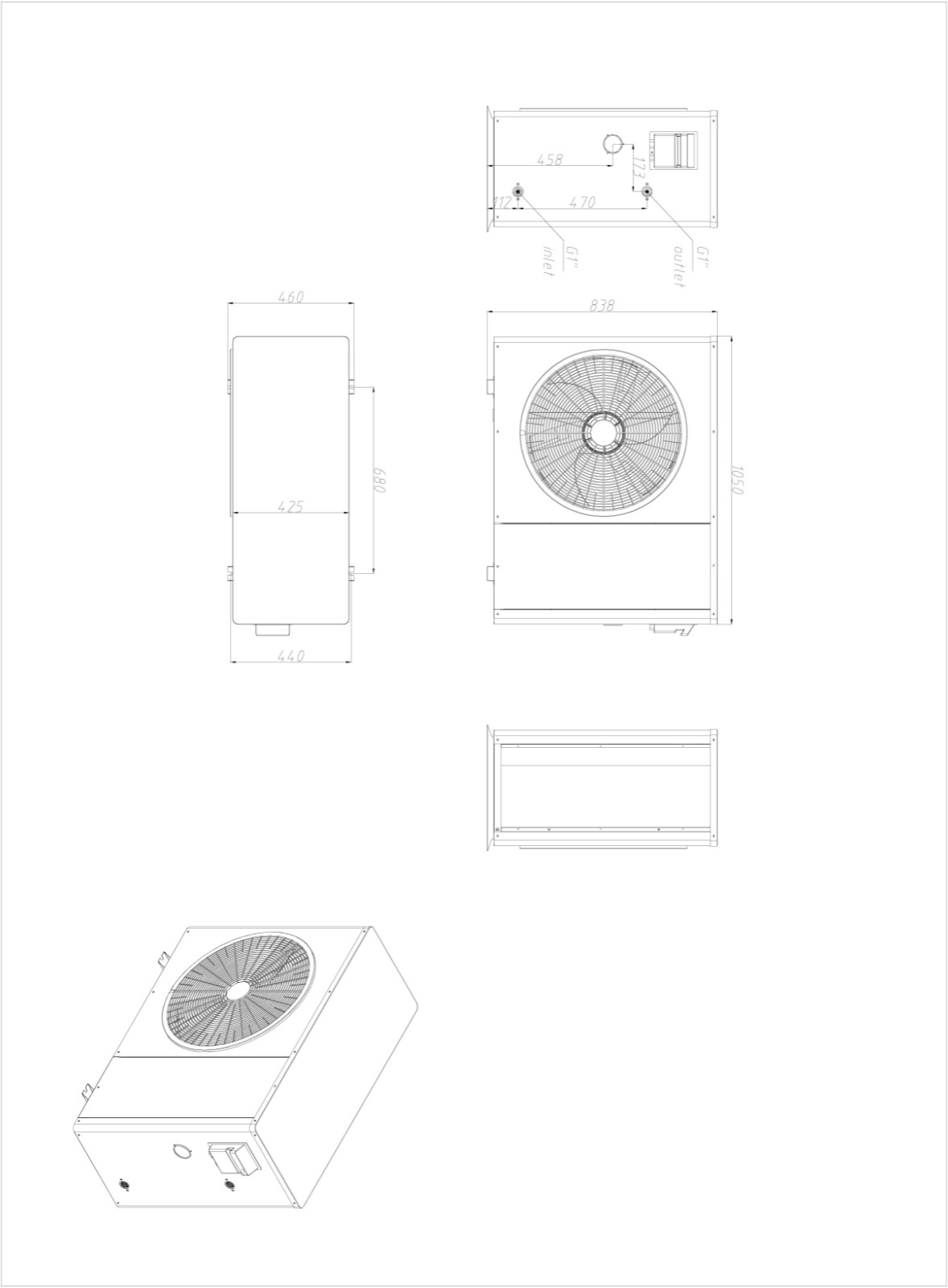 product-NULITE-R32 wifi control 20KW NL-BKDX50-200IIR32 A+++ Heat PumpHeating Cooling Hot Water e