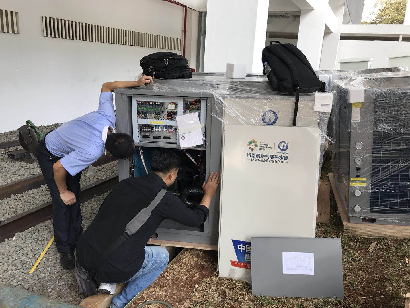 NULITE-2018 Indonesian Asian Games Heat Pump Installation Situation-10