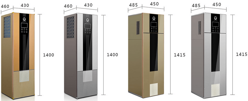 NULITE-53kw R134a Household Mini Floorstanding 240l All In One Heat Pump-ners-fr200ii-2