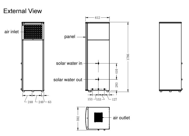 NULITE-Hybrid Heat Pump Manufacture | 8kw 200l Dc Inverter All In One Heat Pump-4