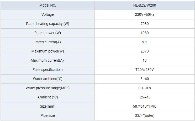 NULITE-Hybrid Heat Pump Manufacture   8kw 200l Dc Inverter All In One Heat Pump-5