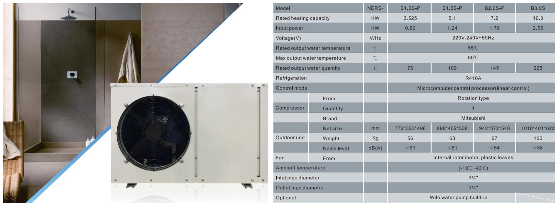 NULITE-Domestic Air Source Heat Pump-nulite New Energy Heat Pumps At India Acrex 2019-3