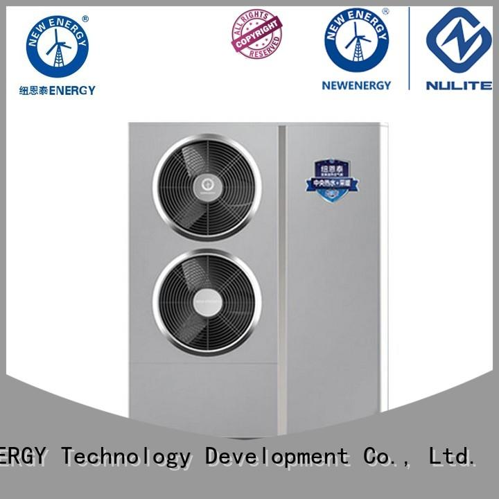 wall mounted monobloc air source heat pump fast installation for cold climate NULITE